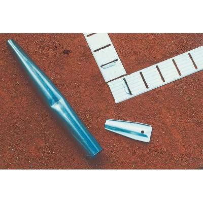 Tennislinie Geniala – original mit Bodenanker verzinkt weiß